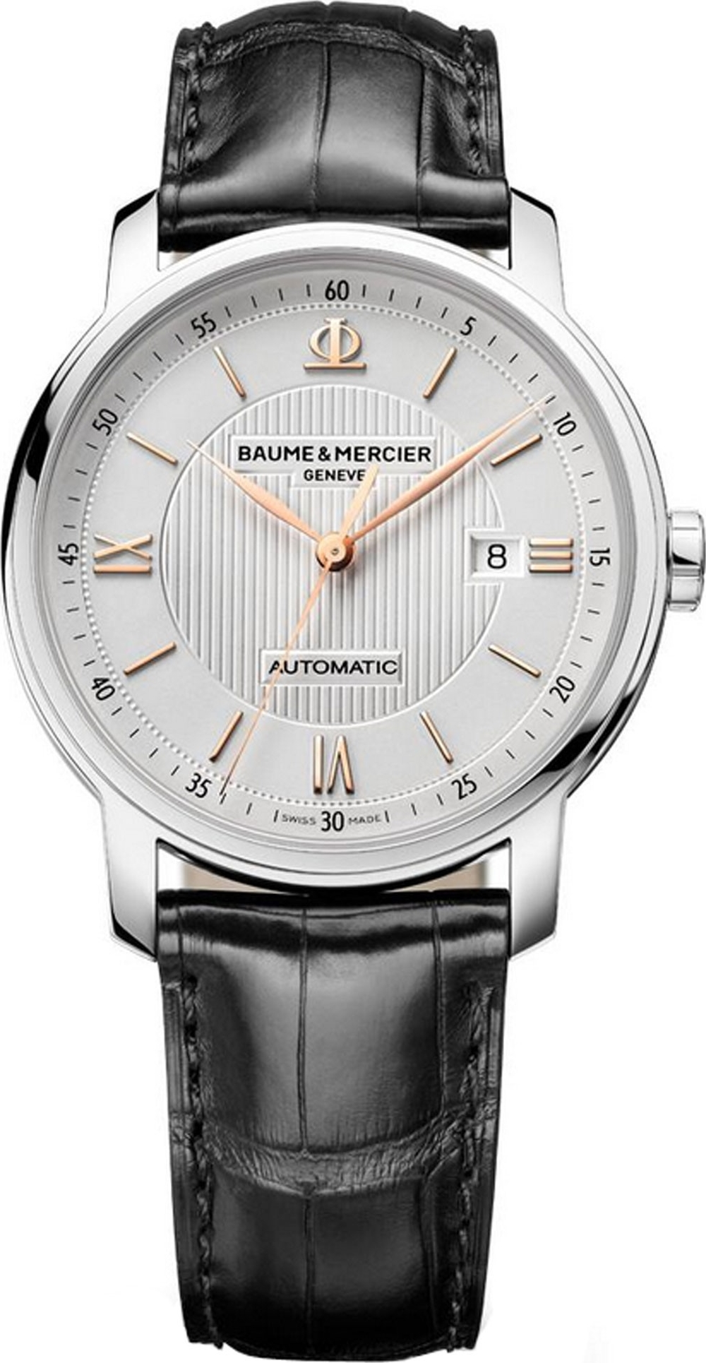 Baume et Mercier Classima Silver Automatic Mens Watch, 42mm