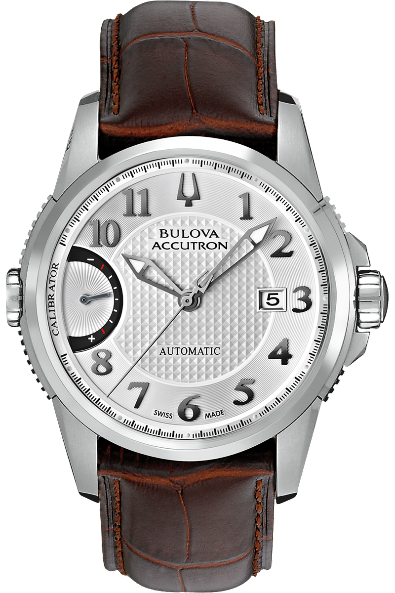 đồng hồ Bulova Accutron Mens Stainless steel Leather 43mm
