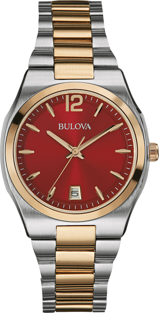 Bulova Ladies Classic Two-Tone Watch 34mm