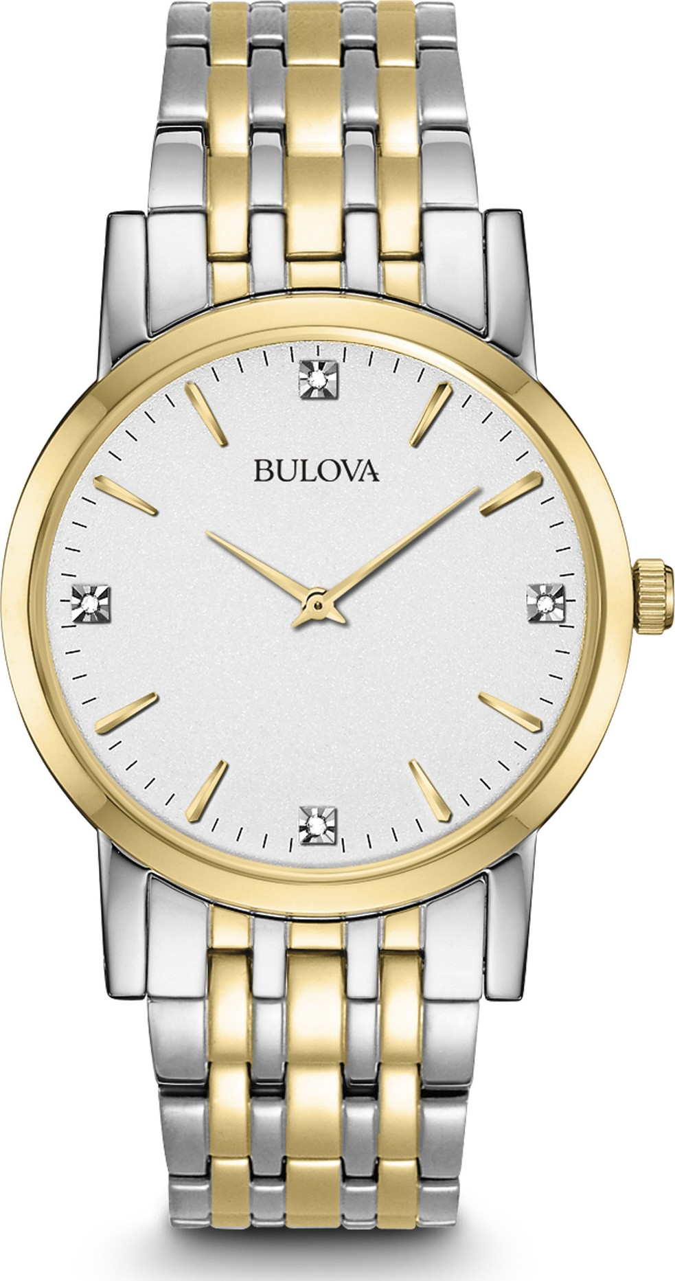 Bulova Men's Diamond Dial Dress Watch 38mm