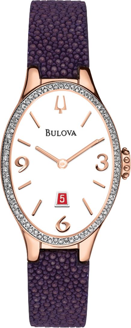 Bulova Diamond Gallery Collection Ladies 25x35mm