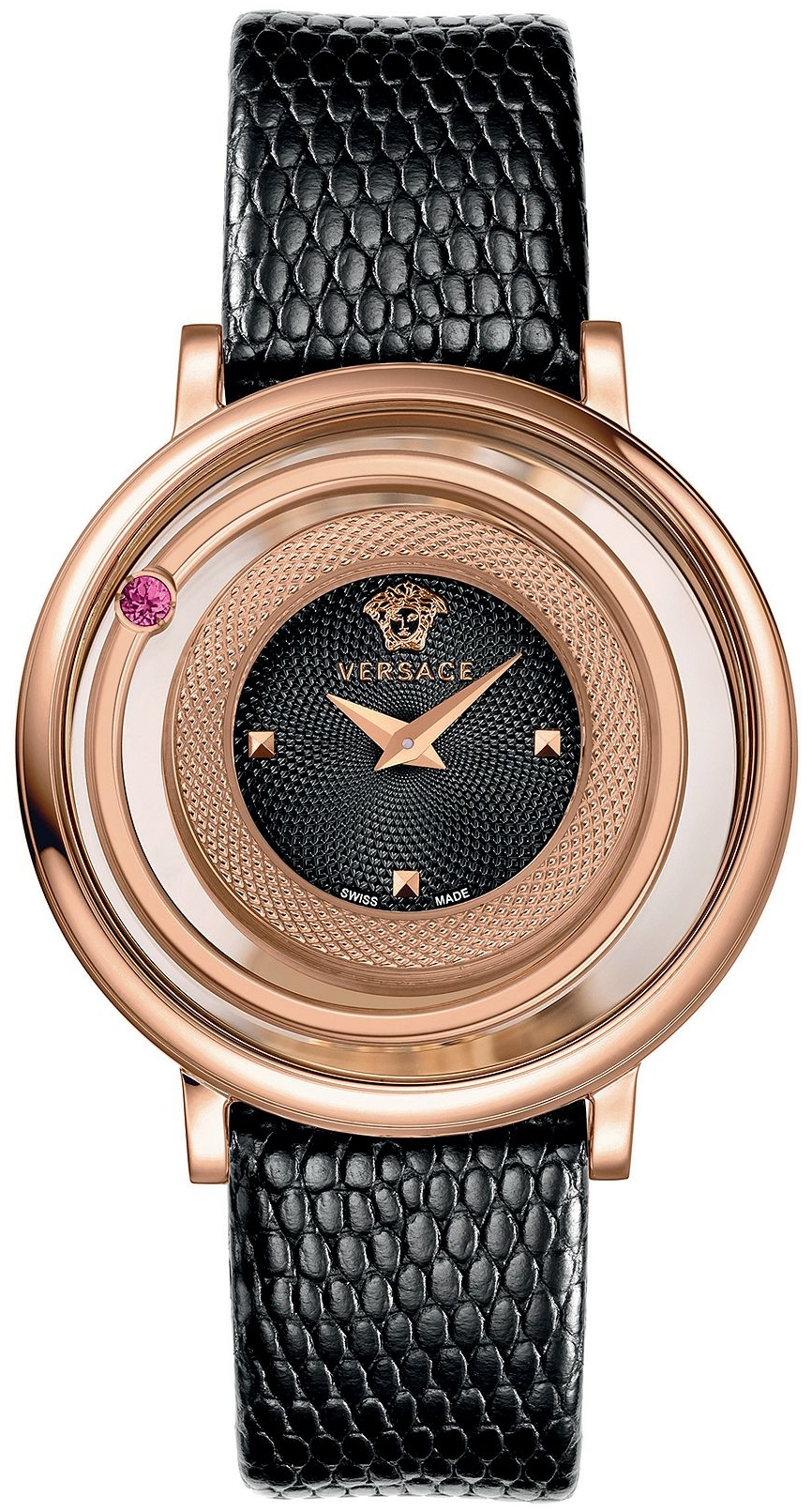 Versace Venus Lizard-Embossed Watch 39mm