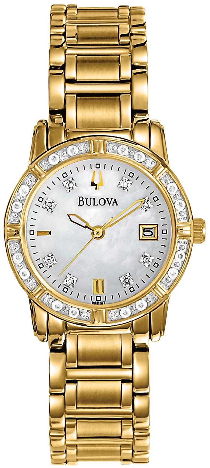 Bulova Women's Diamond Gold Watch 26mm