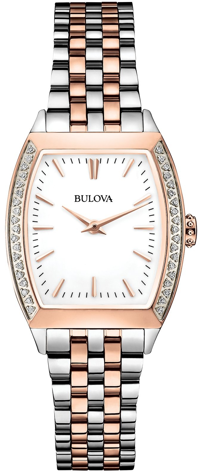 Bulova Women's Diamond Accent Stainless Watch 26mm