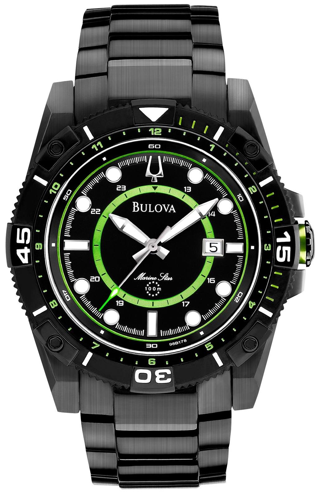 Bulova Men's Marine Star Black Watch 44mm
