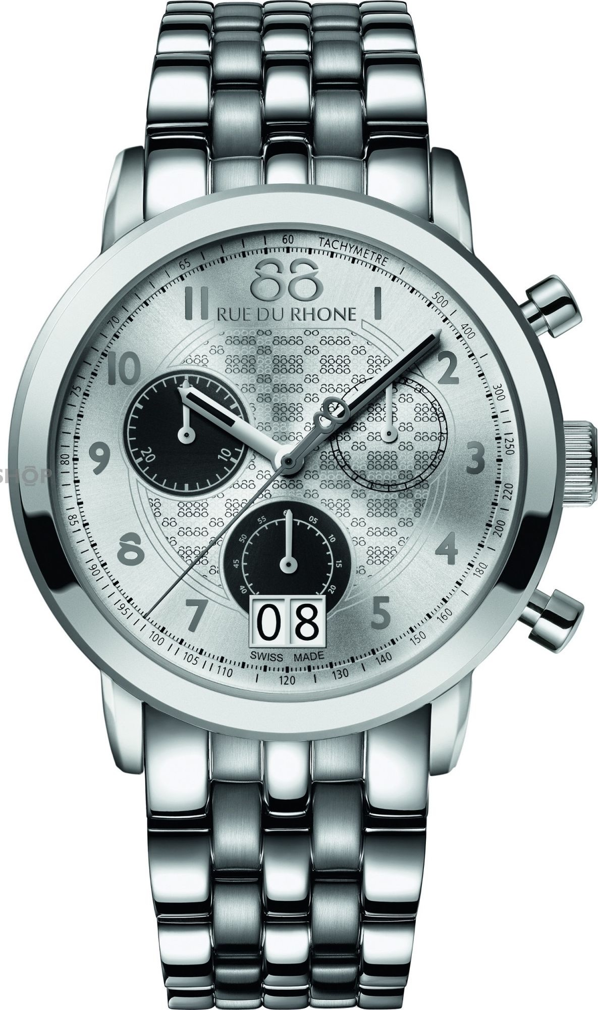 88 Rue Du Rhone Double 8 Stainless Steel Mens Watch 45mm
