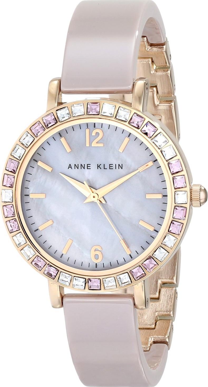Anne klein ak 1442rgtp women 39 s swarovski crystal accented watch 32mm for Anne klein swarovski crystals