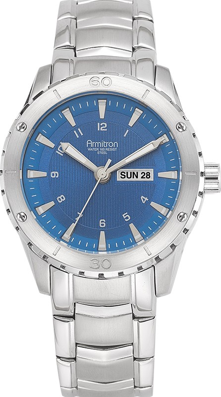 Armitron Men's Blue Day-Date Watch, 43mm