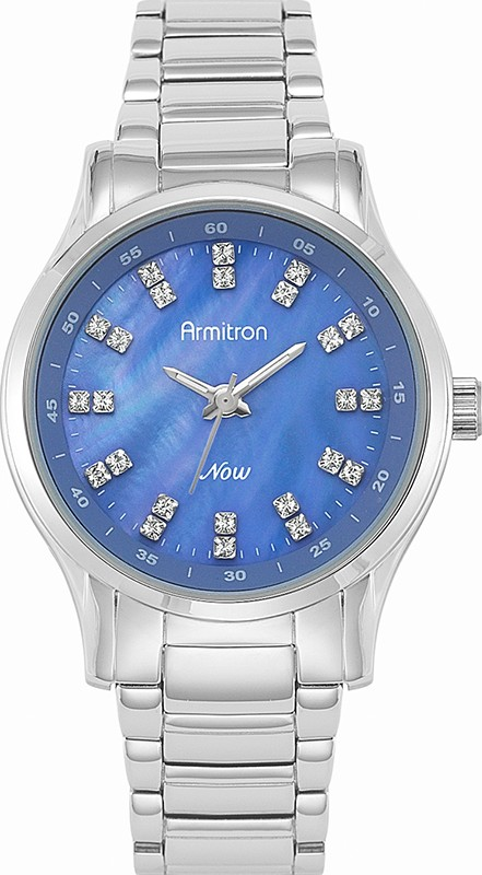 Armitron Women's Silver-Tone Blue Watch, 32mm