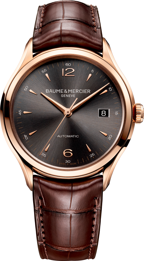 Baume & Mercier Clifton Rose Gold Mens Watch 38.8mm