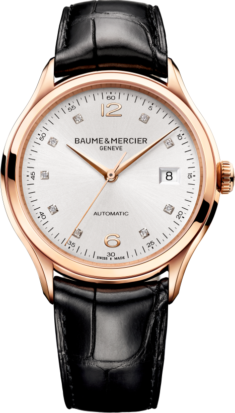 Baume & Mercier Diamond Rose Gold Mens Watch, 38.8mm