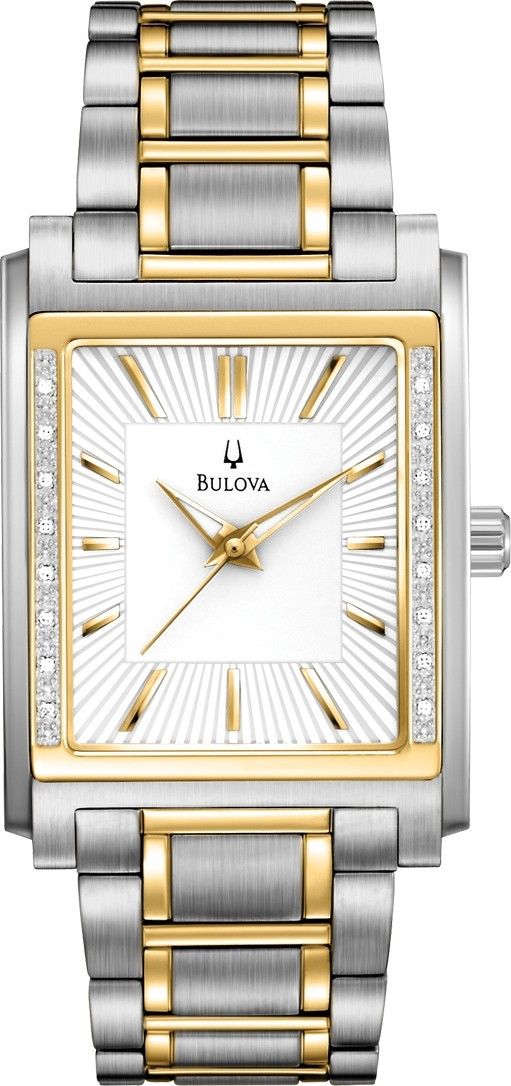 BULOVA Diamond White Men's Watch 32x45mm