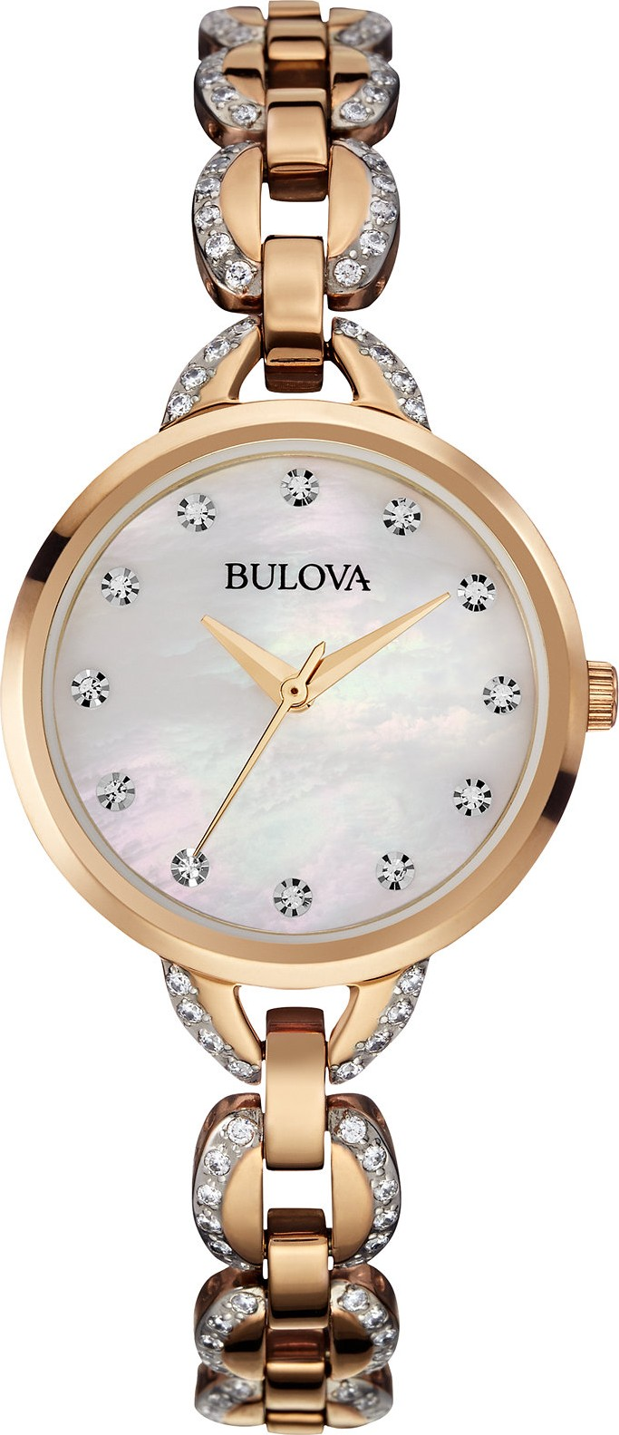 Bulova Facets Crystal Rose Women's Watch 28mm