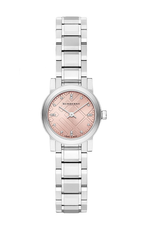 Burberry The City Diamond Pink Dial Ladies Watch 26mm