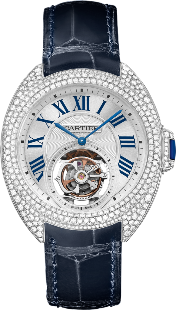 CARTIER CLÉ DE  FLYING TOURBILLON WATCH 35 MM