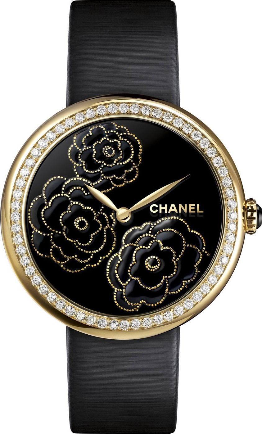CHANEL H3567 Mademoiselle Prive Camelia Watch 37.5mm