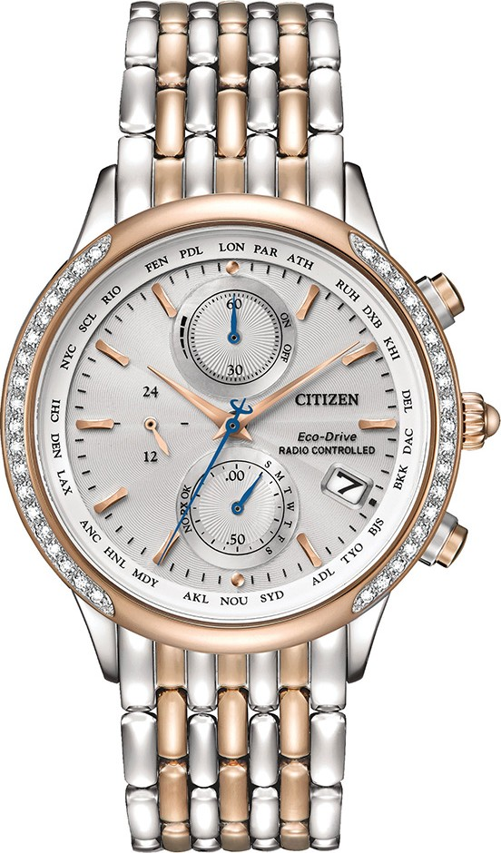 Citizen World Chronograph A-T Eco-Drive Watch 38mm