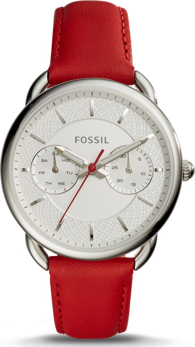Fossil Tailor Multifunction Red Leather Watch 35mm