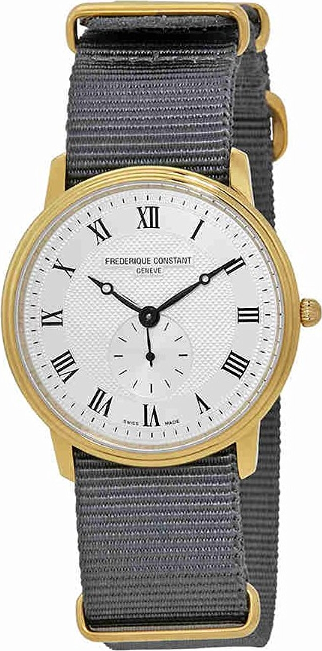 Frederique Constant FC-235M4S5GRY Slimline Watch 37mm