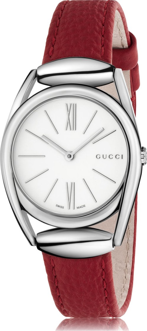 GUCCI Horsebit White Dial Watch 30mm