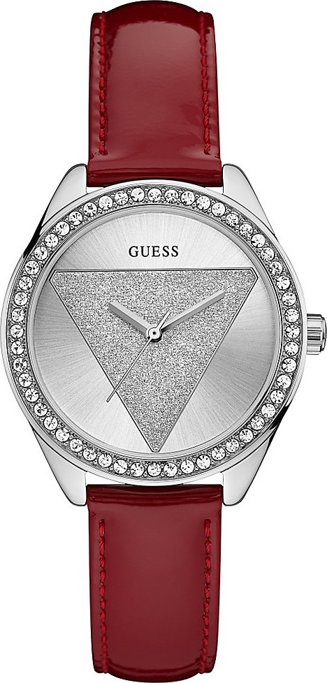 GUESS Iconic Style Red and Silver Watch 36mm
