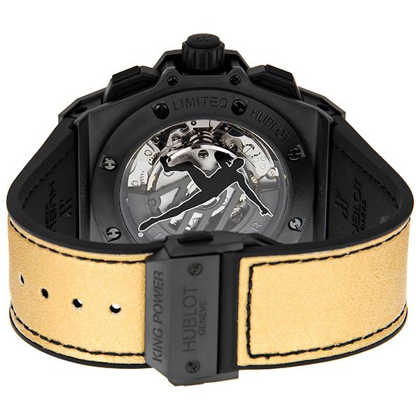 Mặt sau chiếc đồng hồ Hublot King Power Usain Bolt 703.CI.1129.NR.USB12