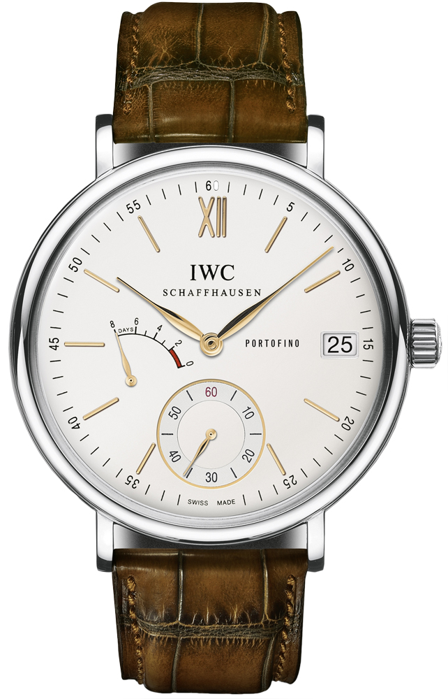 IWC iw510103 Mens Stainless Steel Leather Sapphire 45mm