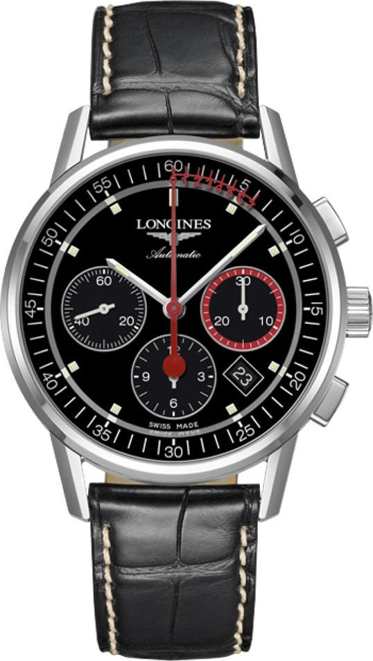 Longines Heritage L4.754.4.52.4 Chronorgaph Watch 41mm