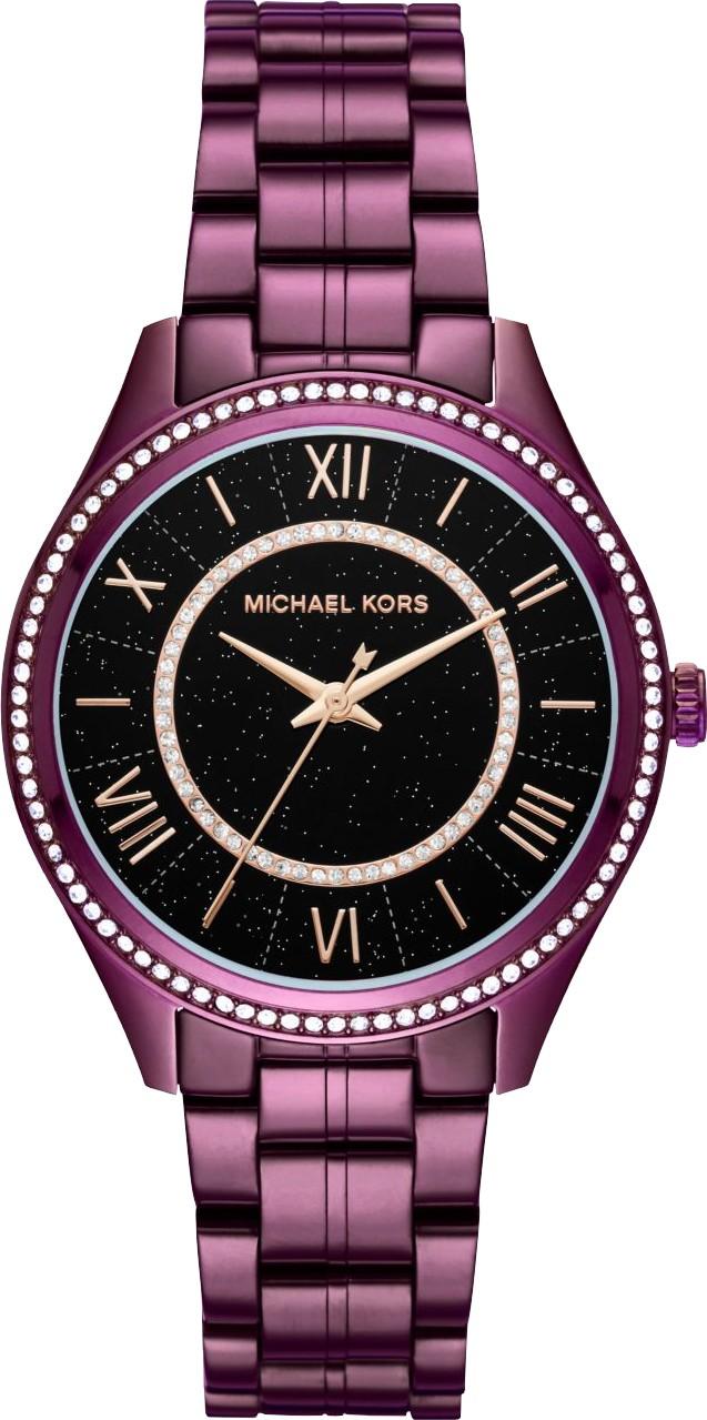 MICHAEL KORS Lauryn Celestial Pavé Plum-Tone Watch 38mm