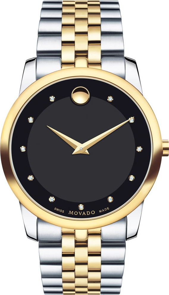 MOVADO Museum Diamond Black Men's Watch 40mm