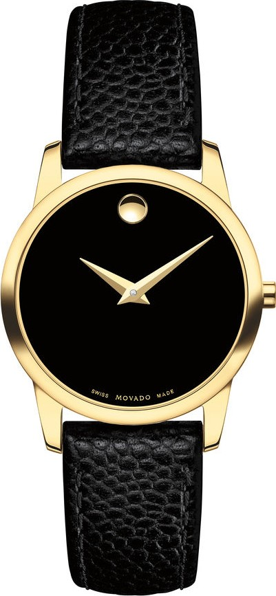 MOVADO MUSEUM GOLD PLATED CASE WATCH 28MM