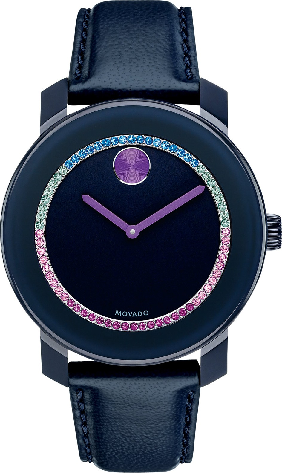 Movado Unisex Swiss Bold Coated Navy Watch 36mm