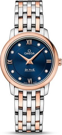 Omega De Ville Diamond Dial 18K 424.20.27.60.53.001 Watch 27.4mm