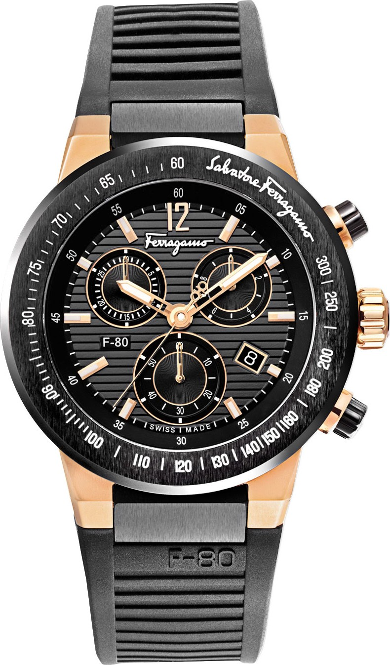 Salvatore Ferragamo	F-80 Titanium Chronograph Watch 44mm