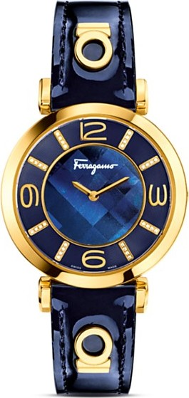 Salvatore Ferragamo Gancino Deco Diamond Watch 39mm