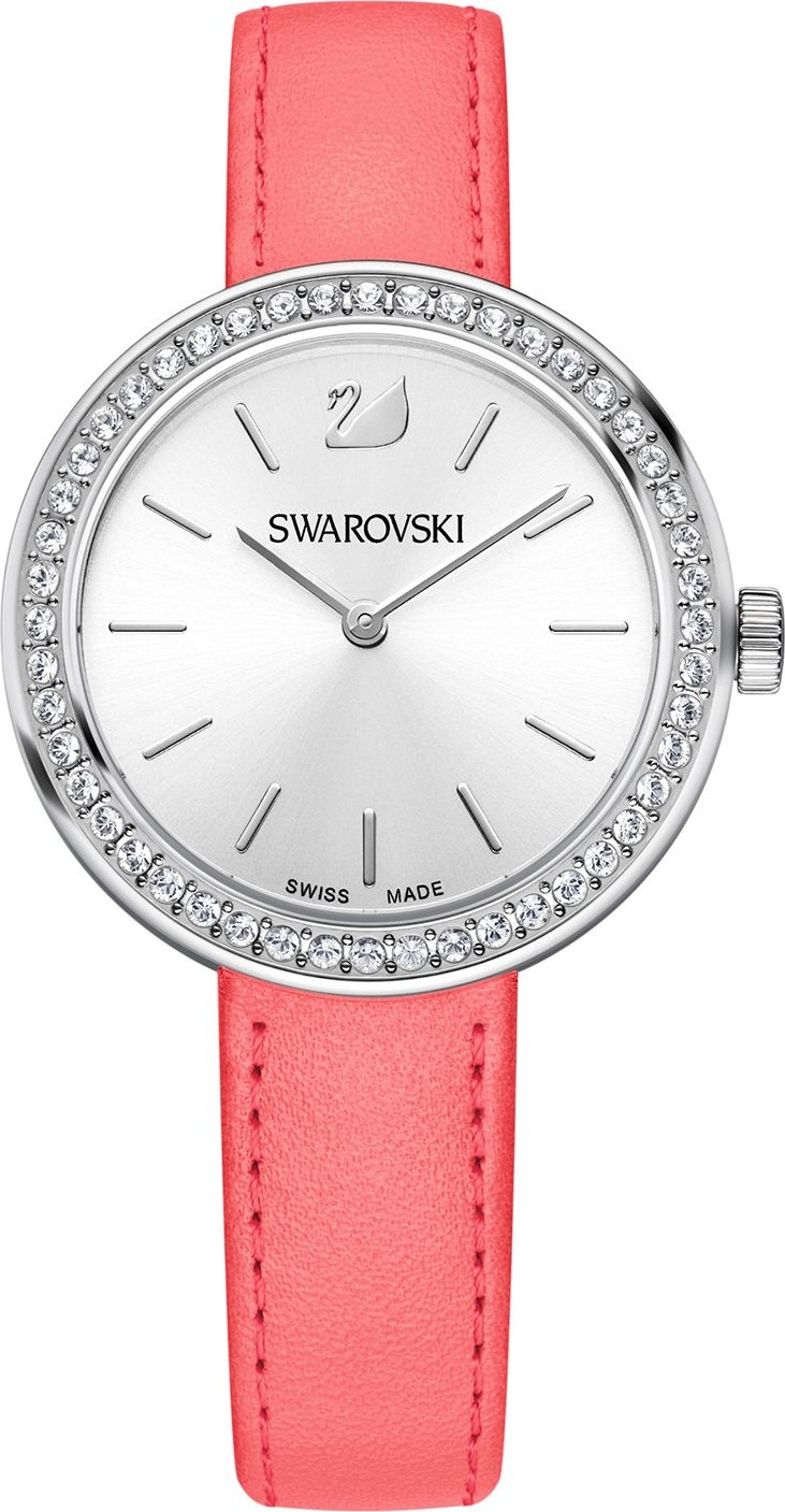 SWAROVSKI DAYTIME PINK SWISS WATCH 34mm