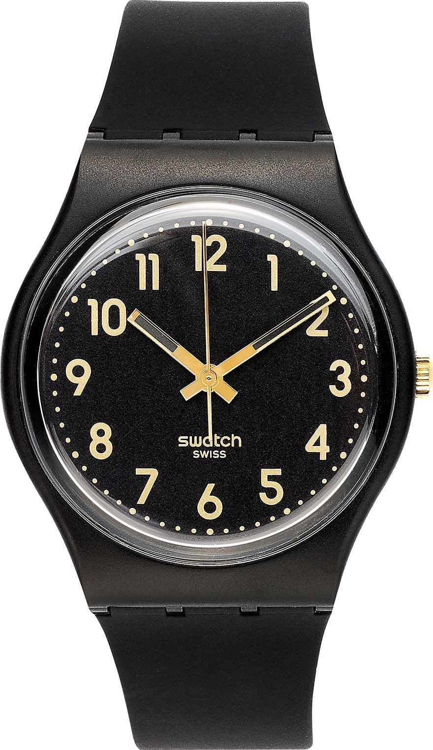 Swatch Watch, Unisex Swiss Golden Silicone, 34mm.