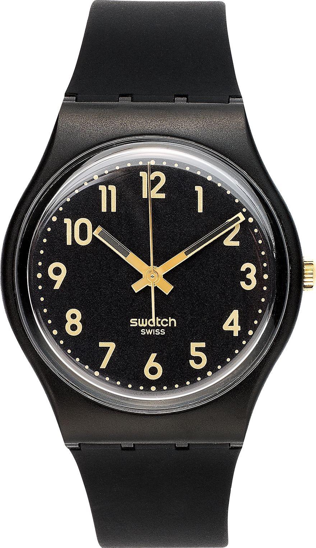 Swatch Watch, Unisex Swiss Golden Silicone, 34mm.