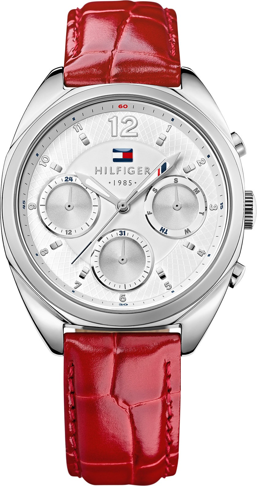 Tommy Hilfiger Women's Red Croc-Embossed Watch 38mm