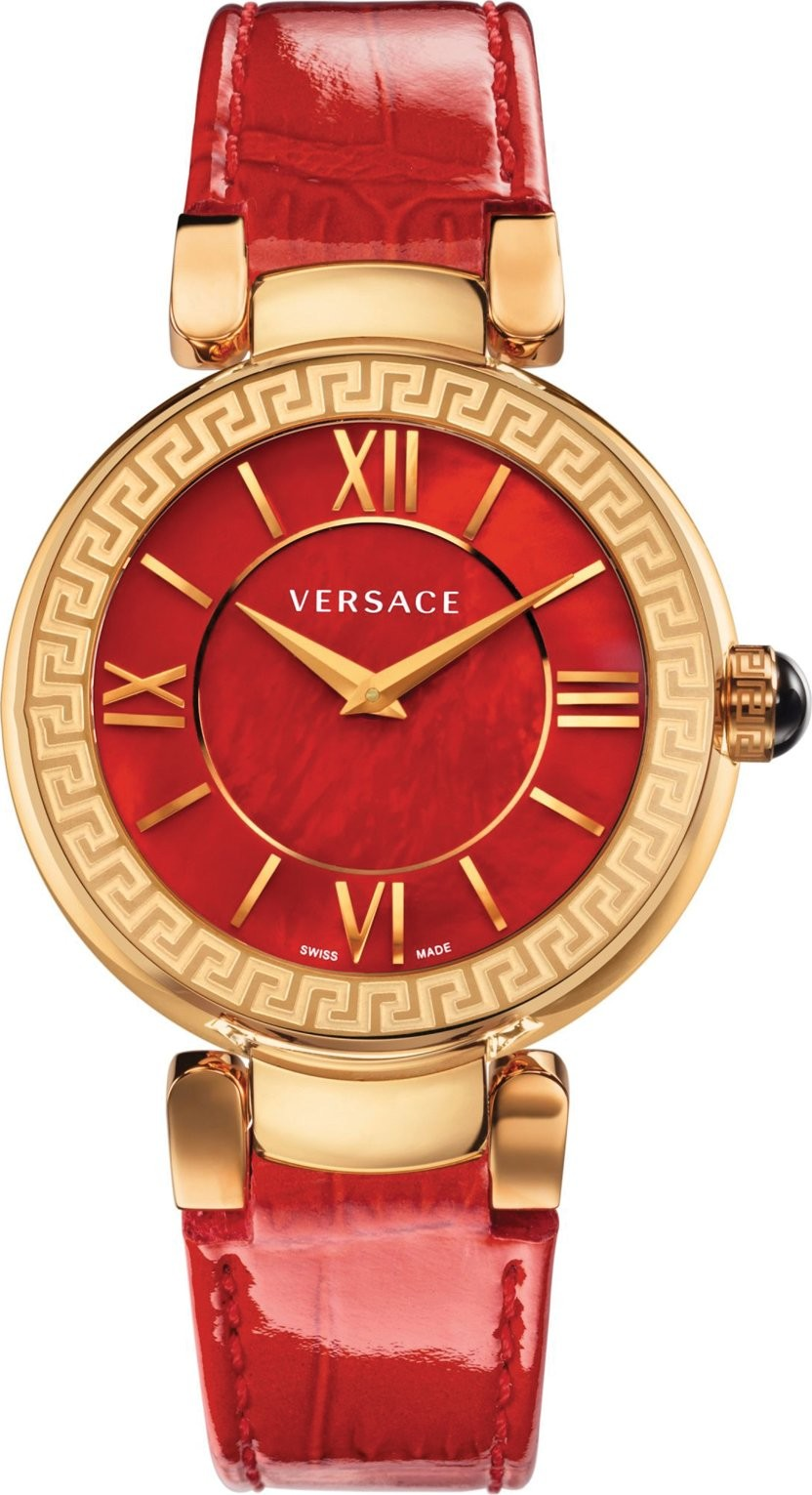 Versace Leda Swiss Quartz Red Watch 36mm