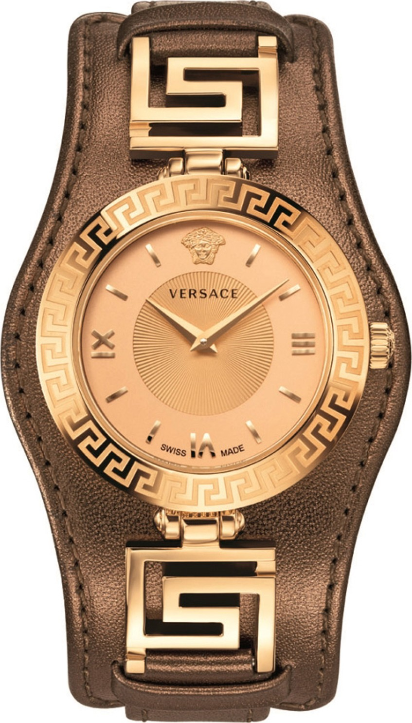Versace V-SIGNATURE Swiss Brown Watch 35mm