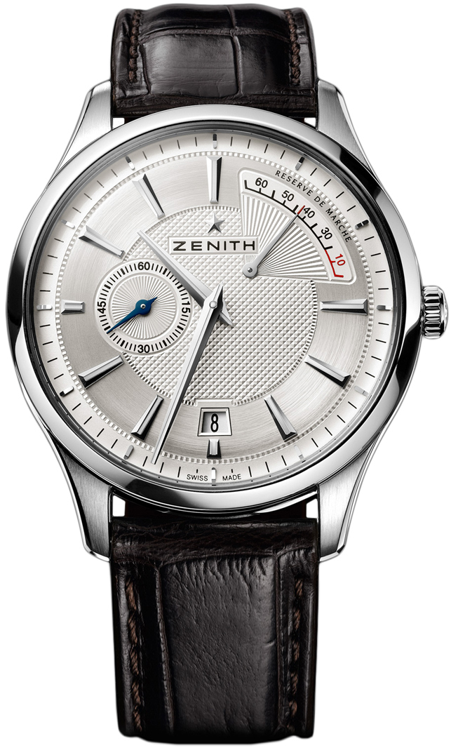 Zenith Mens Sapphire Stainless Steel Leather 40mm