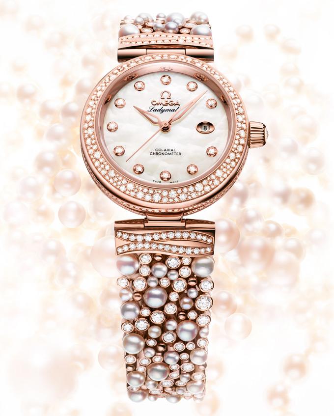 """Omega De Ville Ladymatic """"Diamonds & Pearls"""" - Viên ngọc quý dành cho các quý bà sành điệu"""