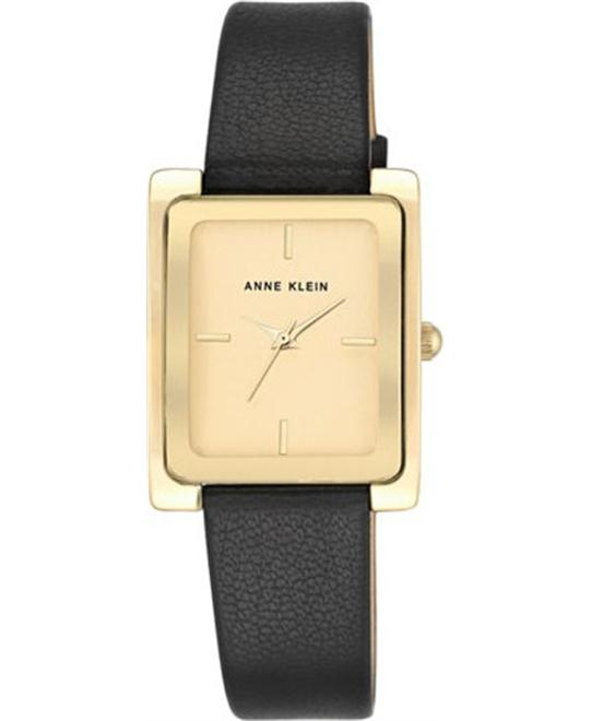 Anne Klein Black Leather Watch 28x35mm