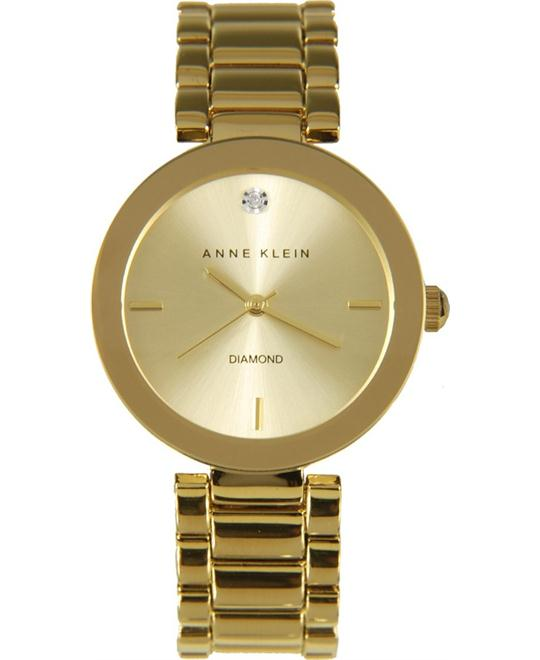 Anne Klein Women's Diamond Gold Watch 32mm