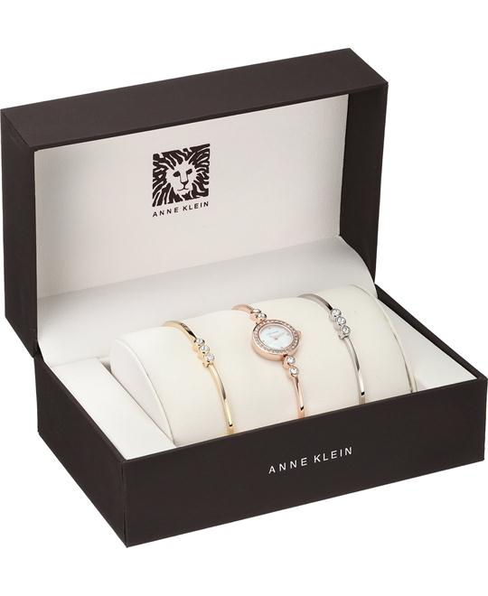 Anne Klein Swarovski Women's Watch Set 18.5mm