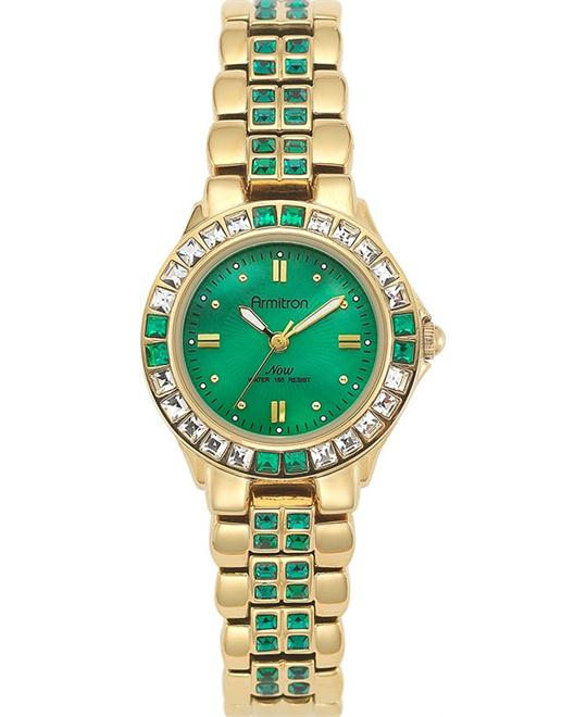 Armitron Women's Green Gold Bracelet Watch 27mm