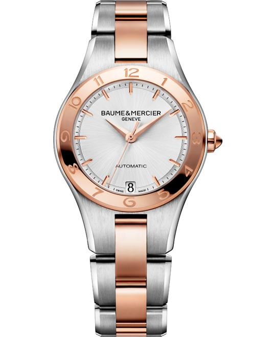 Baume and Mercier Linea 18kt Rose Gold Ladies Watch 32mm