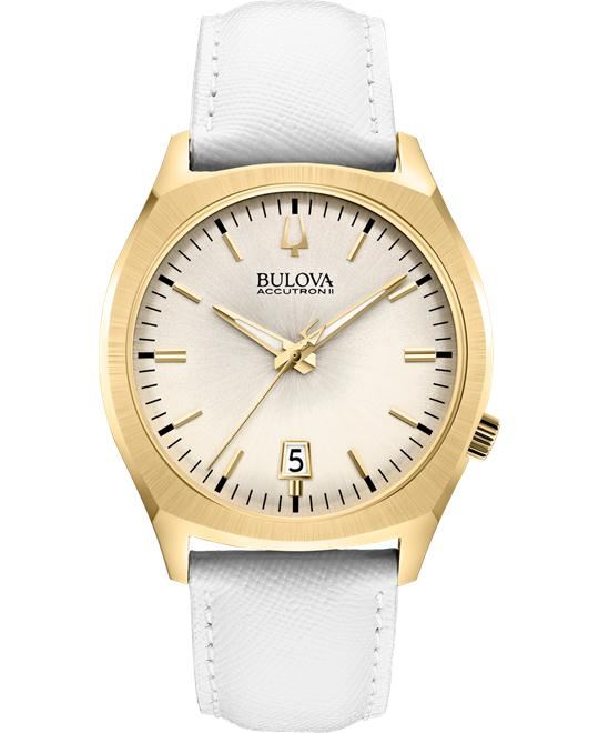 Bulova Accutron II Surveyor White Watch 41mm