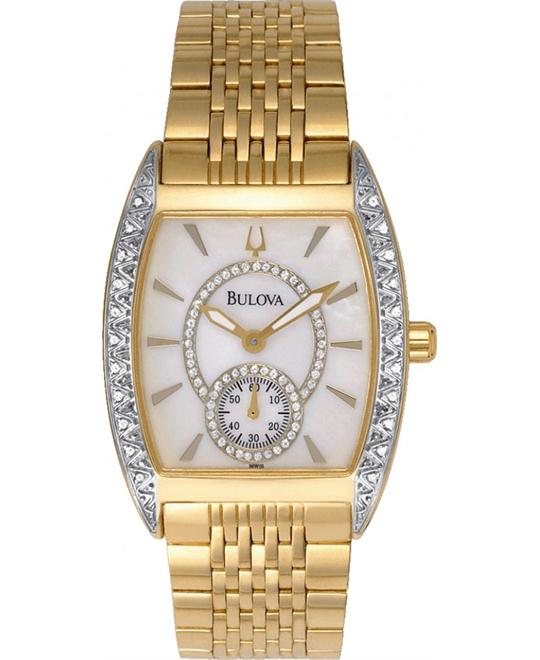 Bulova Diamond Gold-Tone Unisex Watch 32mm